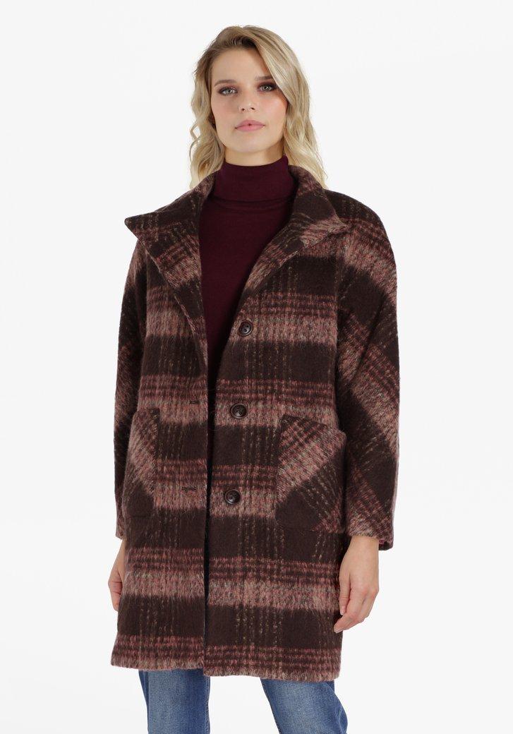 Manteau beige avec laine