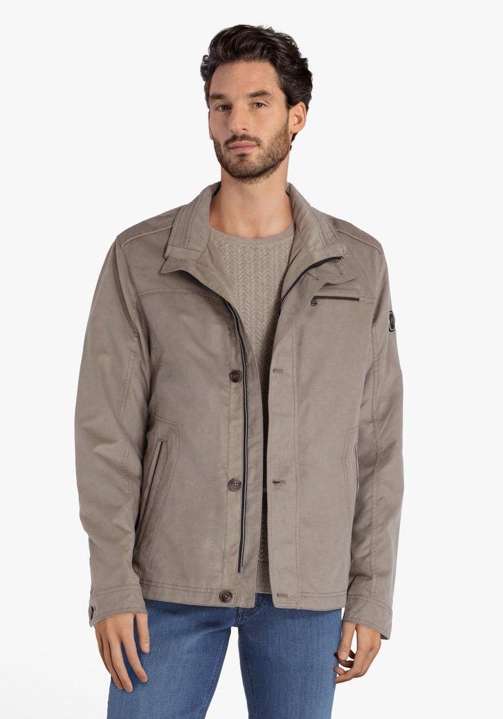 Manteau beige en faux-daim