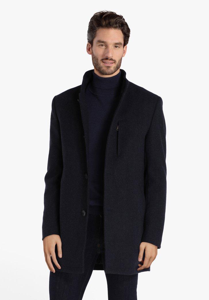 Manteau bleu foncé à double fermeture