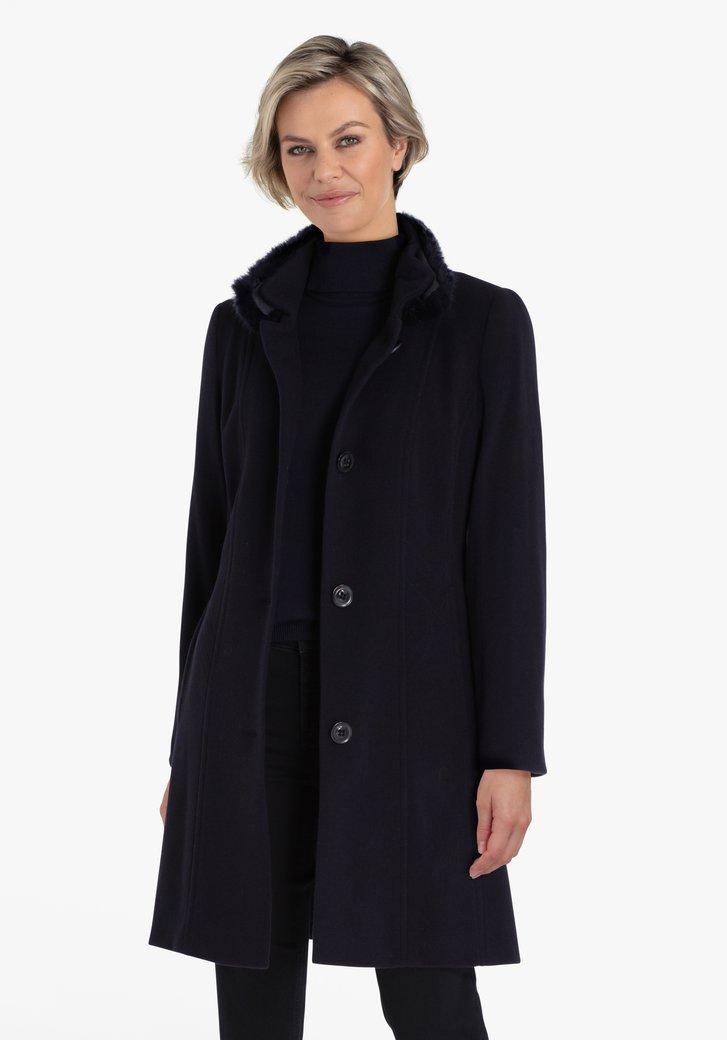 Manteau bleu marine avec col
