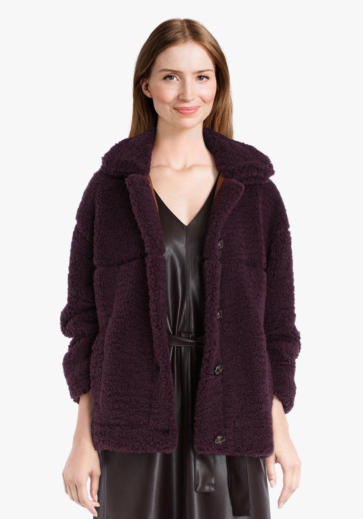 Manteau en peluche violet