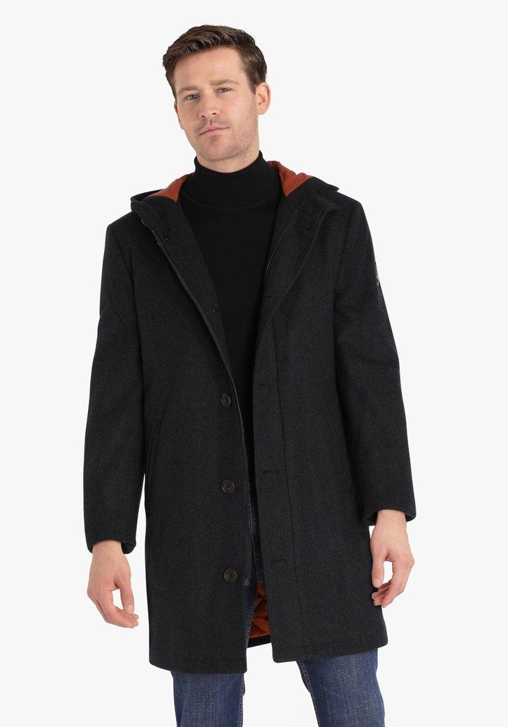 Manteau gris foncé avec capuche
