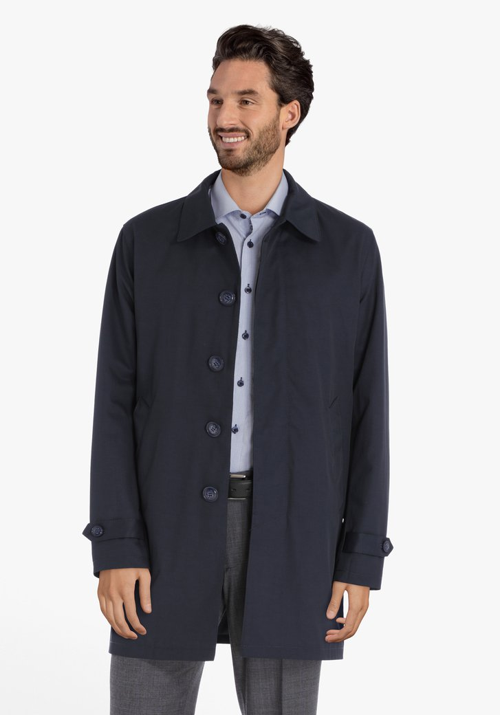 Manteau habillé bleu marine