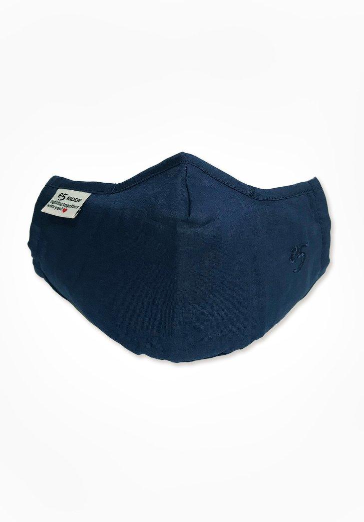 Masque buccal en tissu - bleu foncé