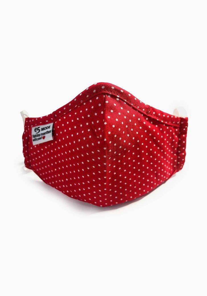 Masque buccal en tissu-enfants-rouge à pois blancs