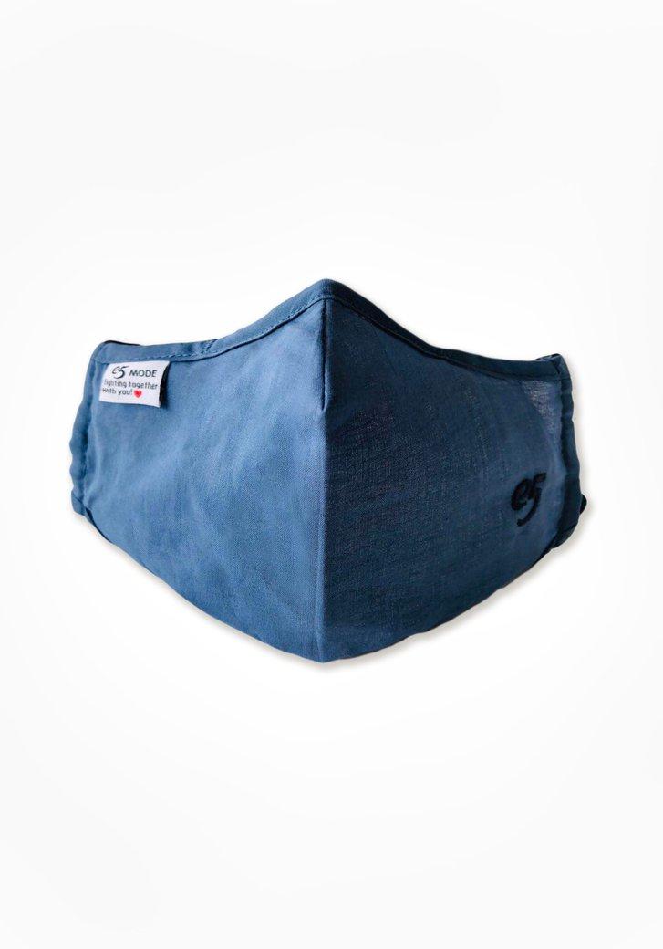 Masque buccal en tissu réutilisable - bleu acier