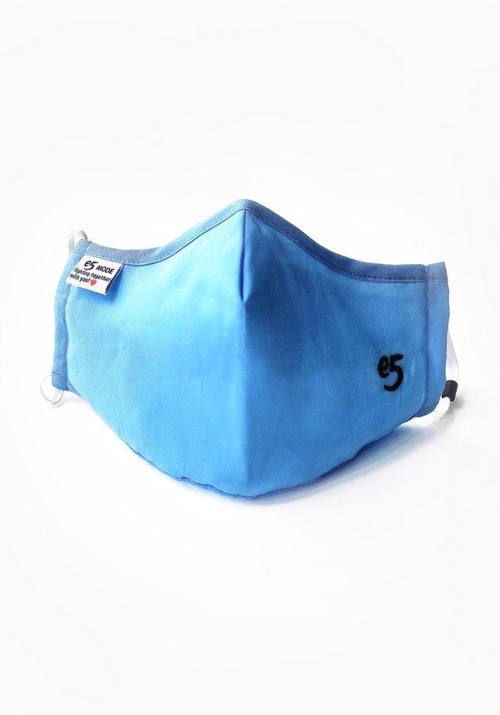 Masque buccal en tissu réutilisable - Bleu