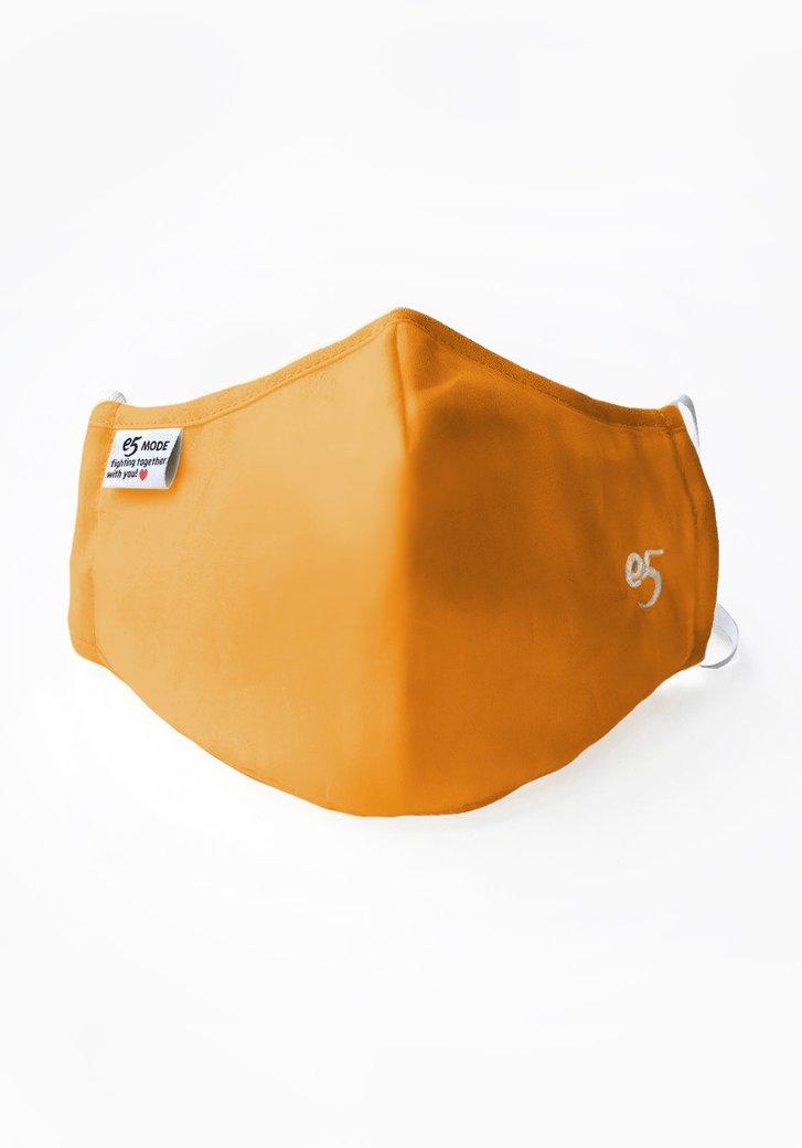 Masque buccal en tissu réutilisable - Jaune ocre