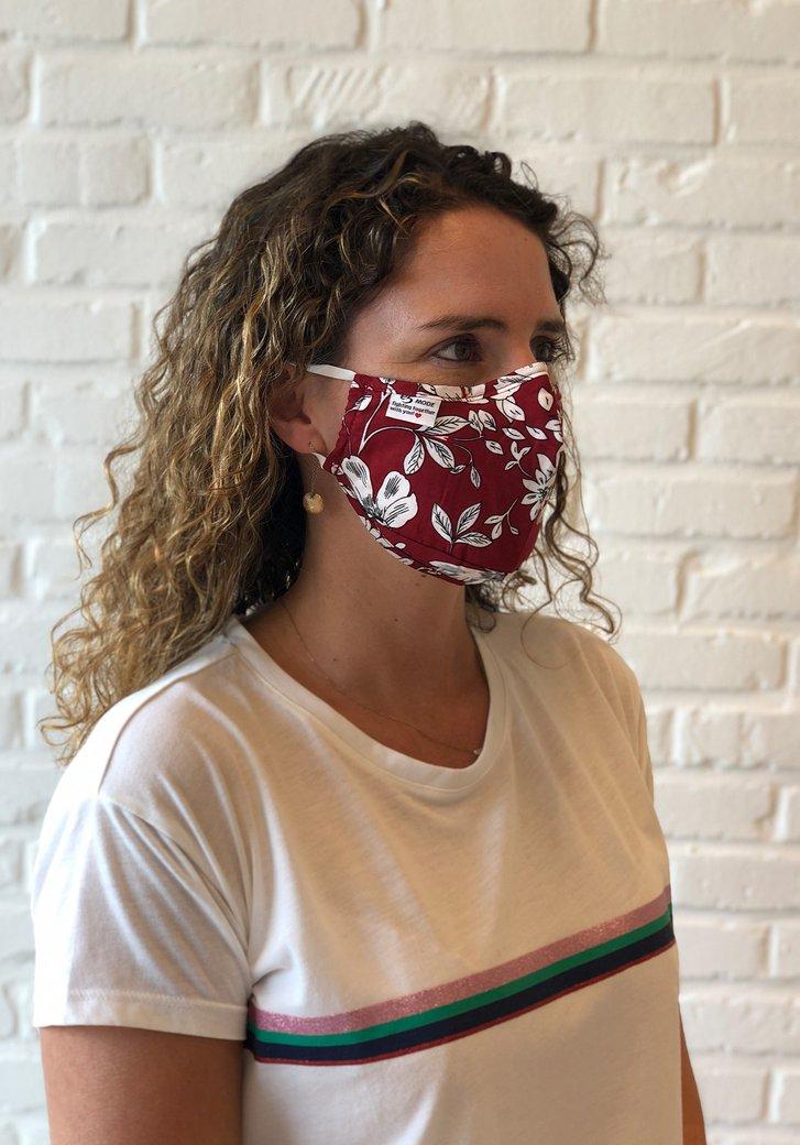 Masque buccal en tissu réutilisable - motif floral