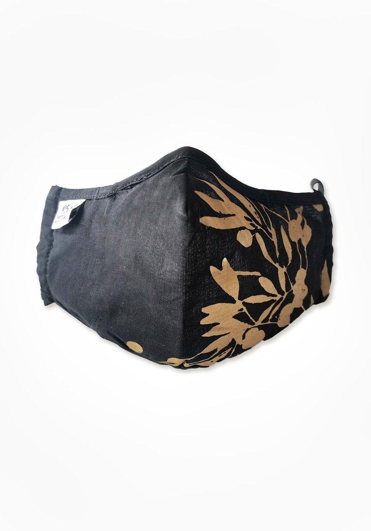 Masque buccal en tissu réutilisable - noir et or