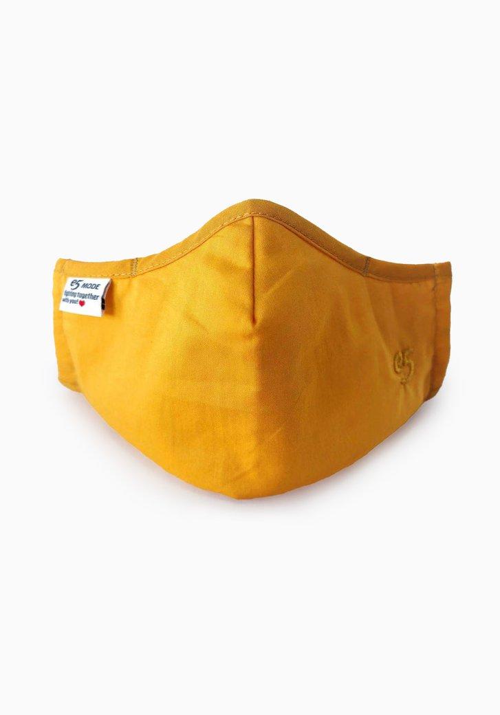 Masque buccal en tissu réutilisable - ocre