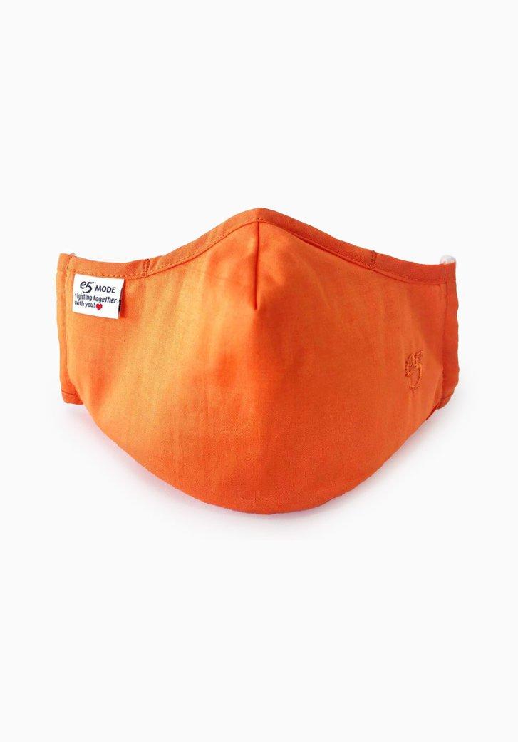 Masque buccal en tissu réutilisable - orange