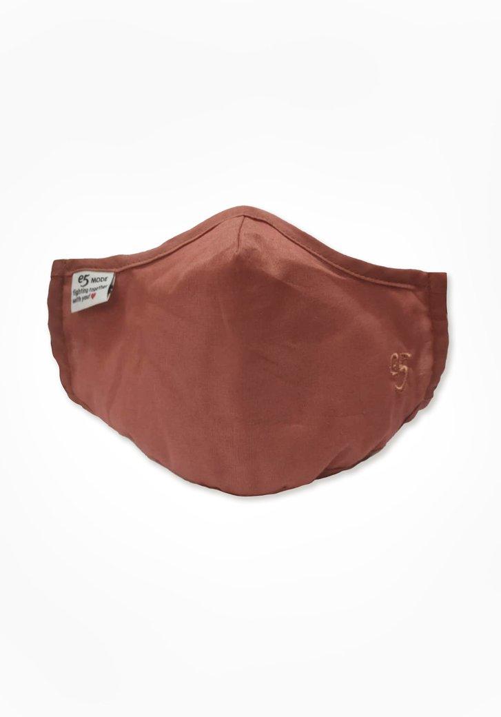 Masque buccal en tissu - rouillé