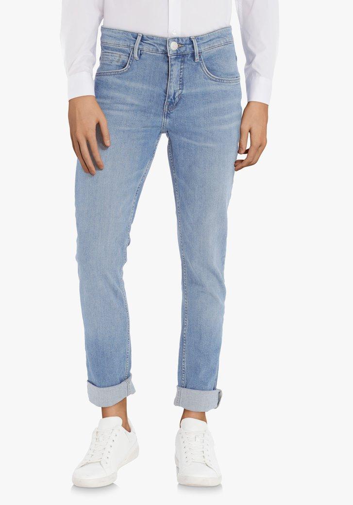 Mediumblauwe jeans met stretch - slim fit - L34