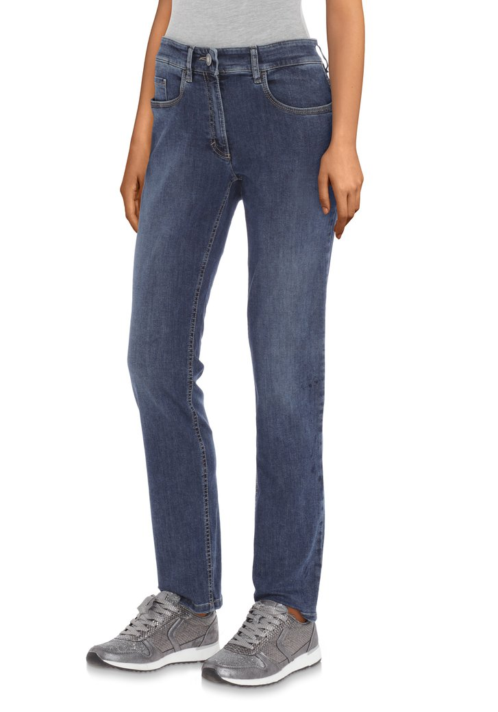 Mediumblauwe jeans - straight fit