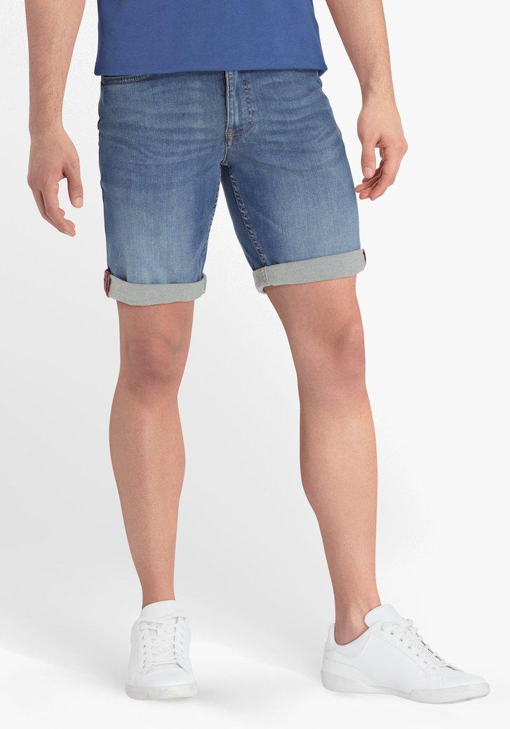 Mediumblauwe jeansshort