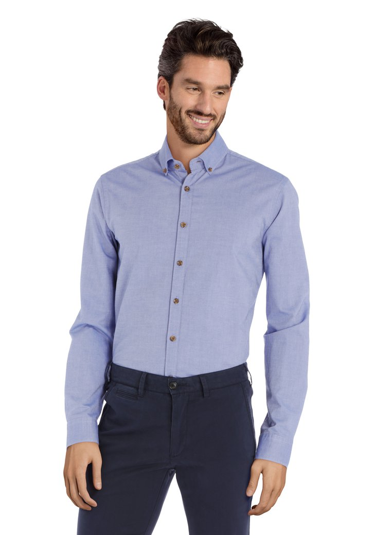 Middenblauw hemd - slim fit