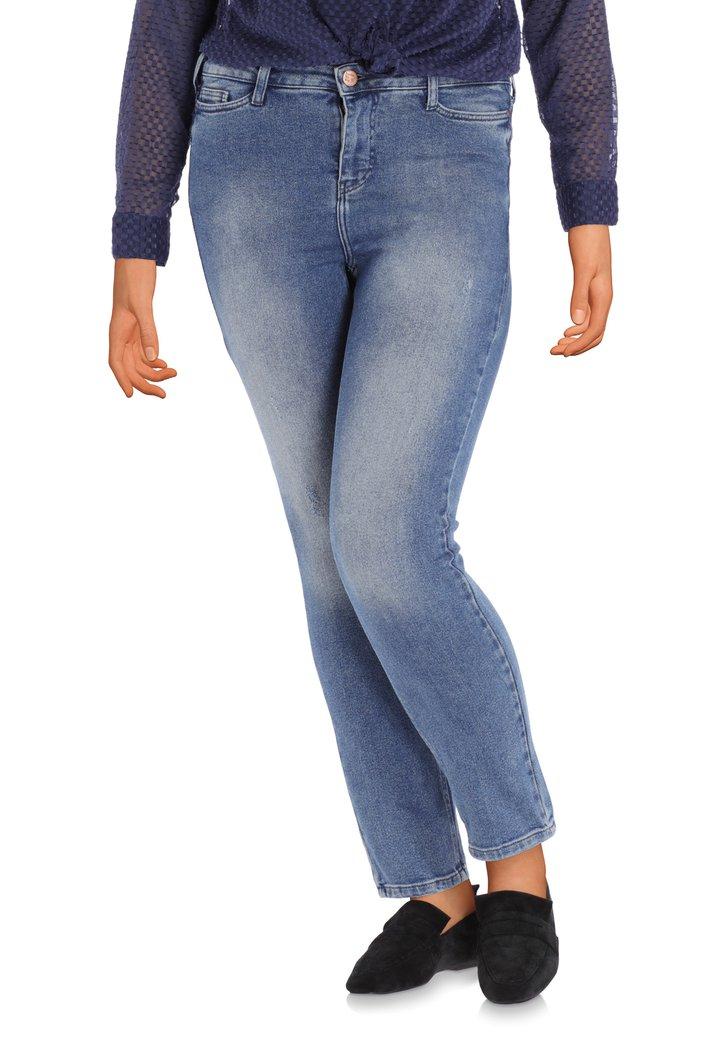 Middenblauw jeans met wassing - slim fit
