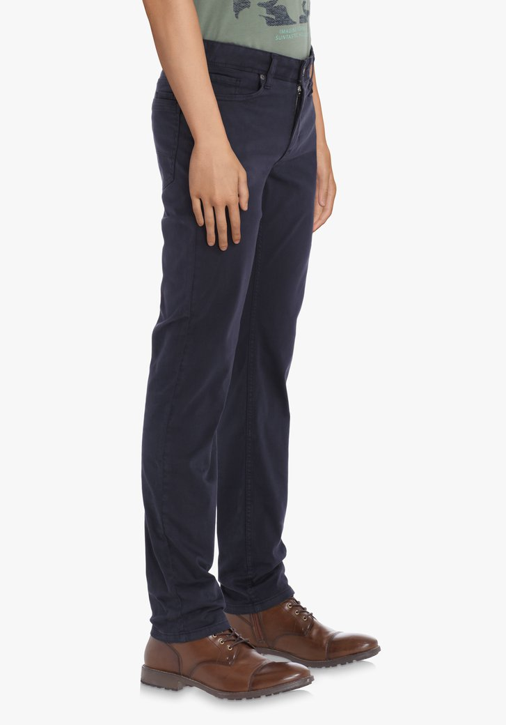 Navy broek – slim fit