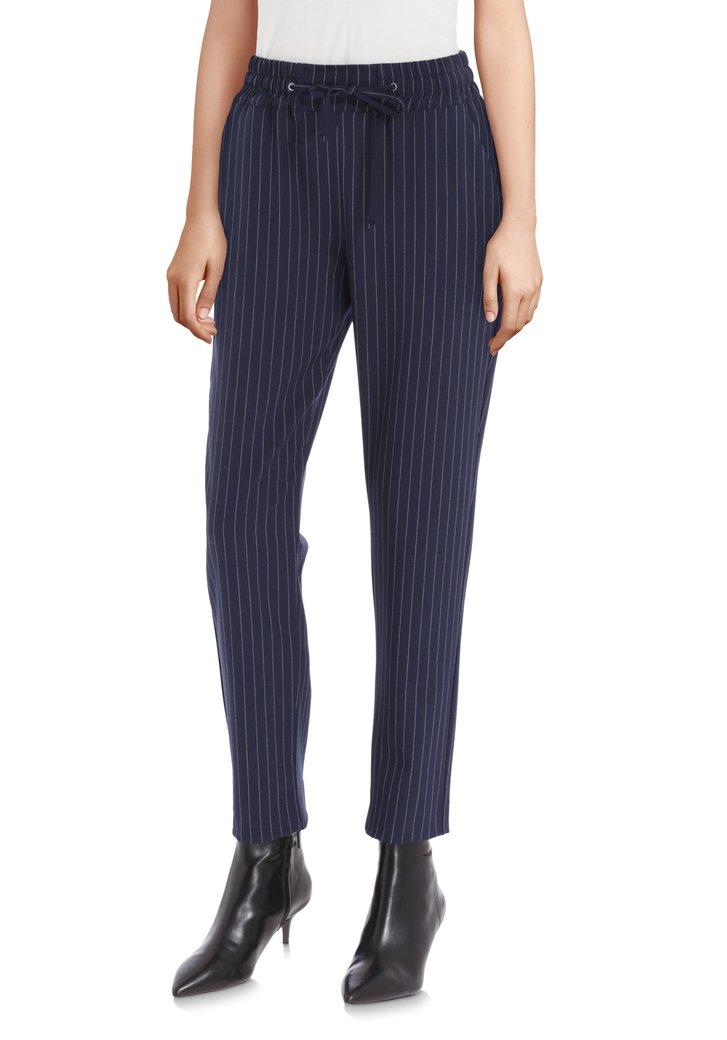 Afbeelding van Navy broek met fijne krijtstreep - slim fit