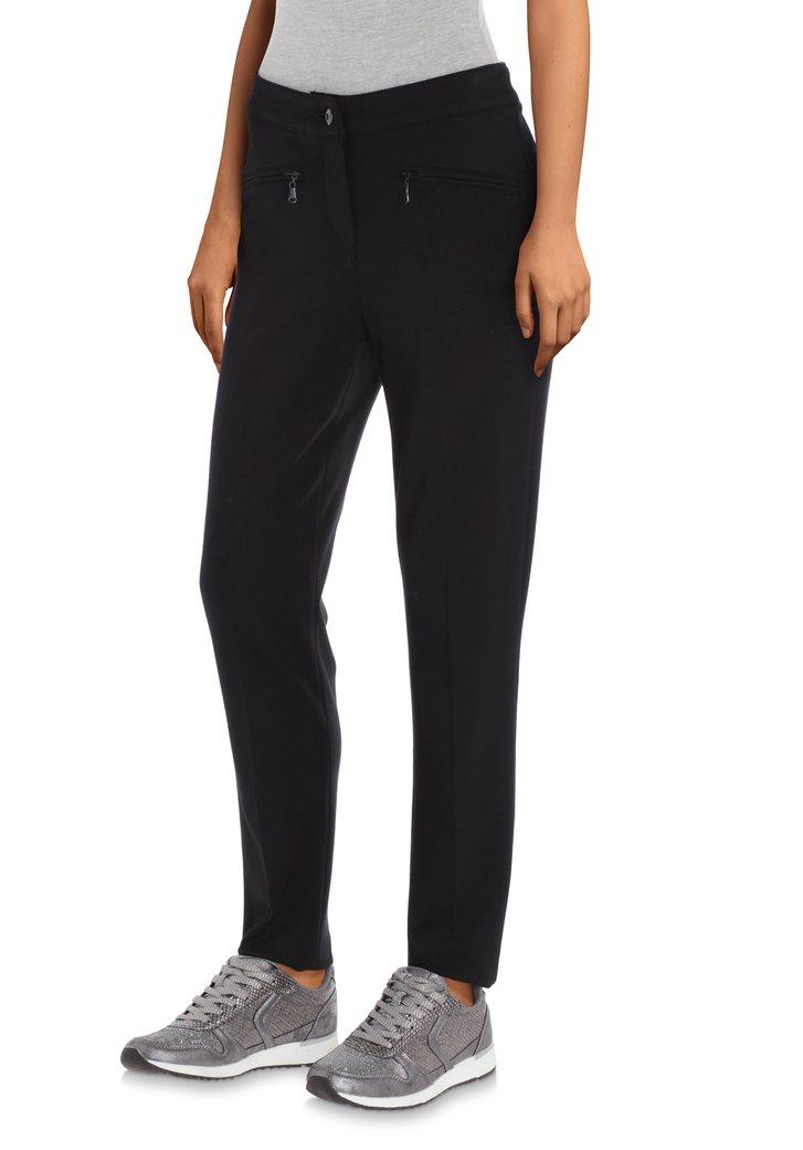 Navy broek met ritszakken - slim fit