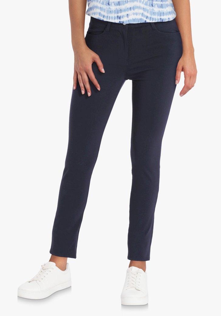 Navy broek met stretch - slim fit