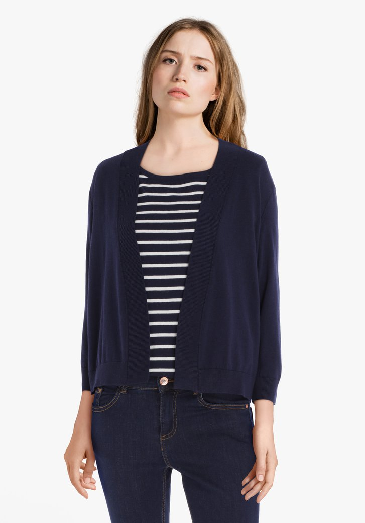 Navy cardigan in fijn jersey