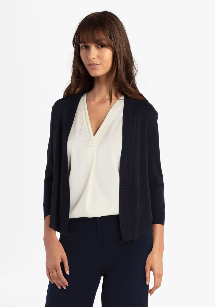 Navy cardigan in viscose