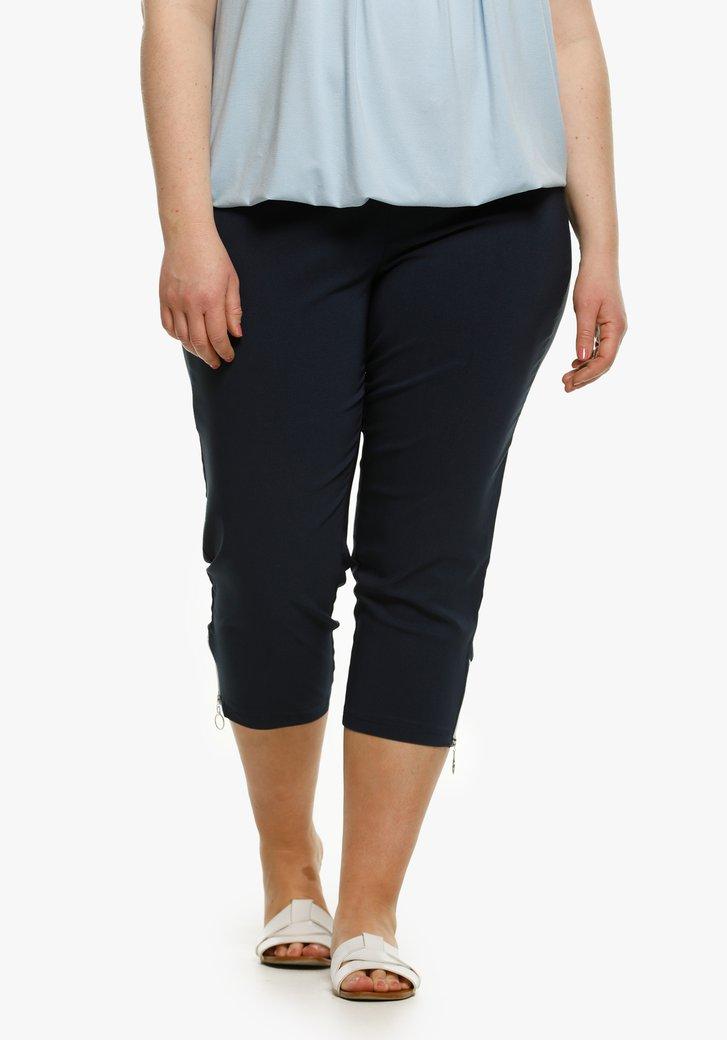 Navy driekwart broek - slim fit