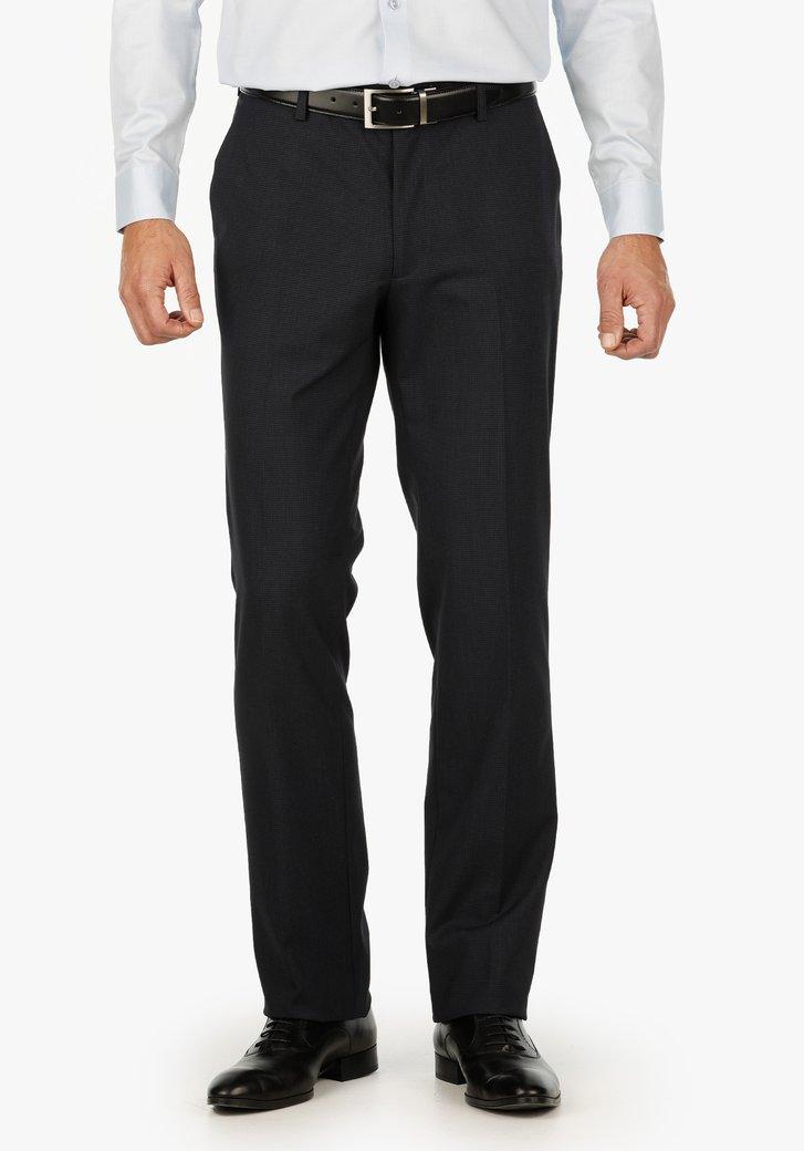 Navy geruite kostuumbroek – Casper – comfort fit
