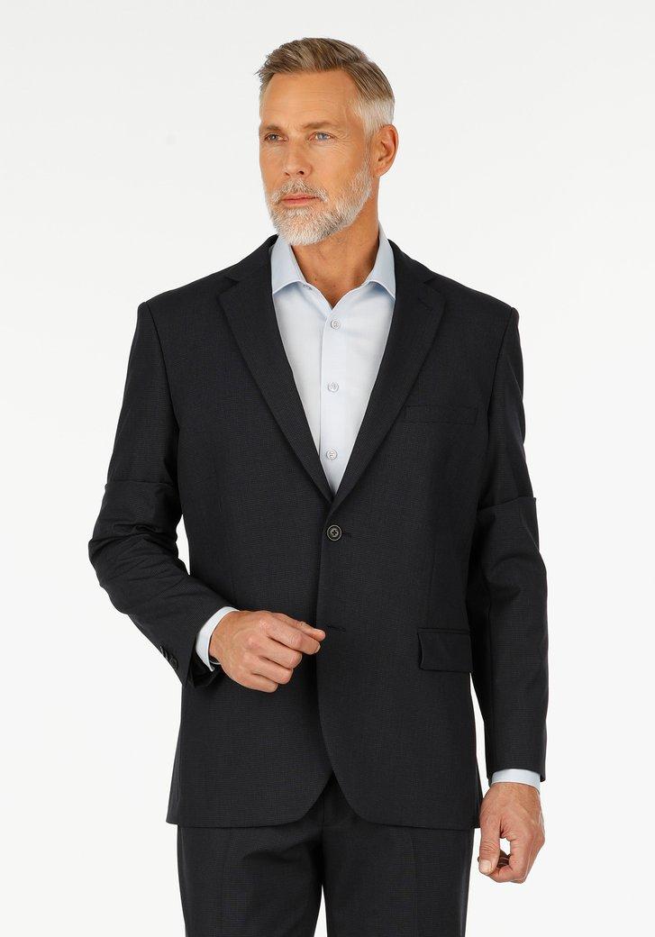 Navy geruite kostuumvest – Casper – comfort fit
