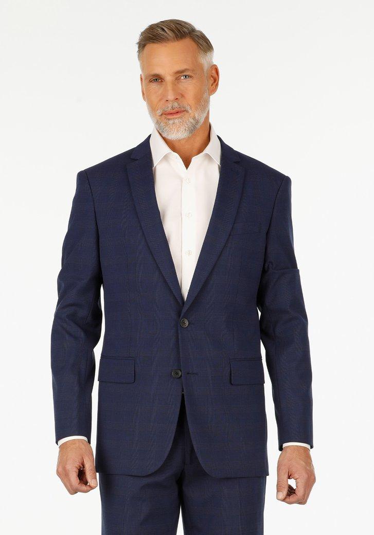 Navy geruite kostuumvest – Ralph – regular fit