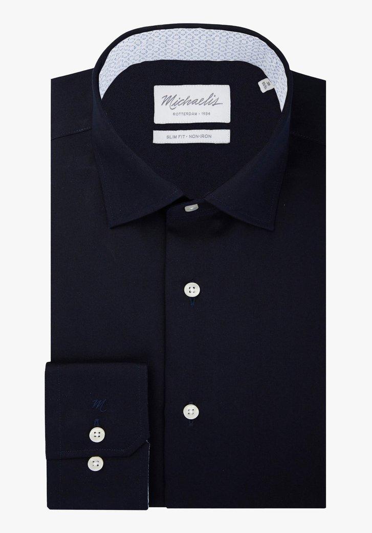 Navy hemd - slim fit