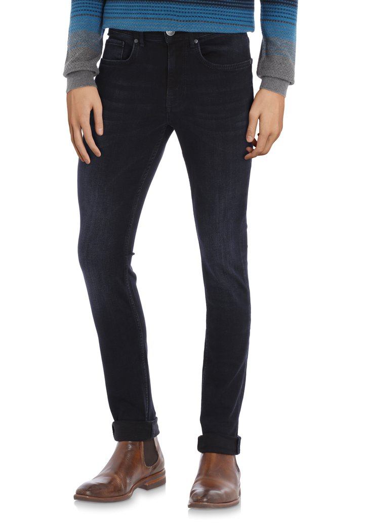 Navy jeans in stretch - slim fit