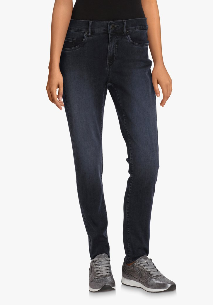 Navy jeans in stretchstof – skinny fit