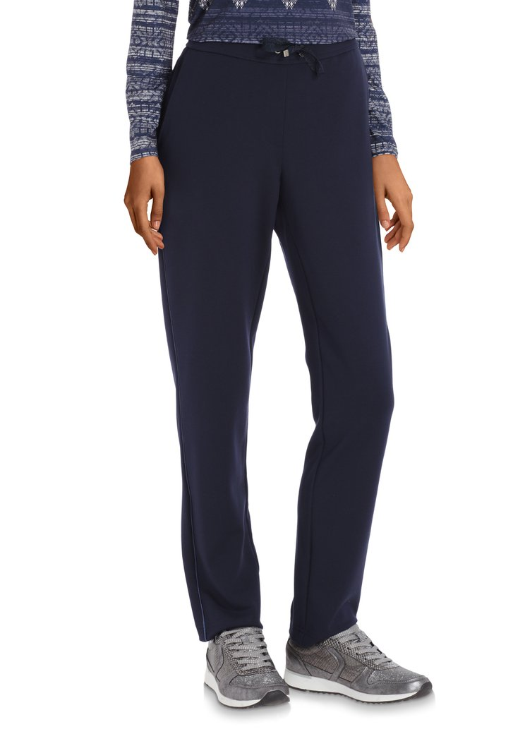 Navy legging met elastische taille