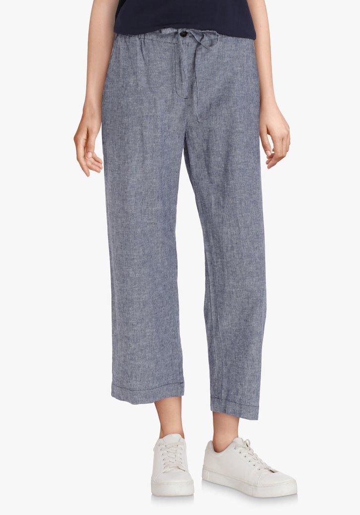 Navy linnen broek – straight fit