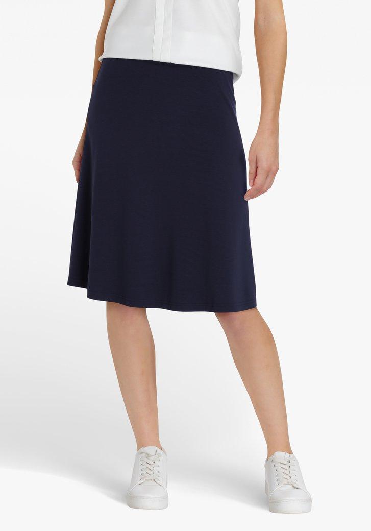 Navy rok met elastische taille