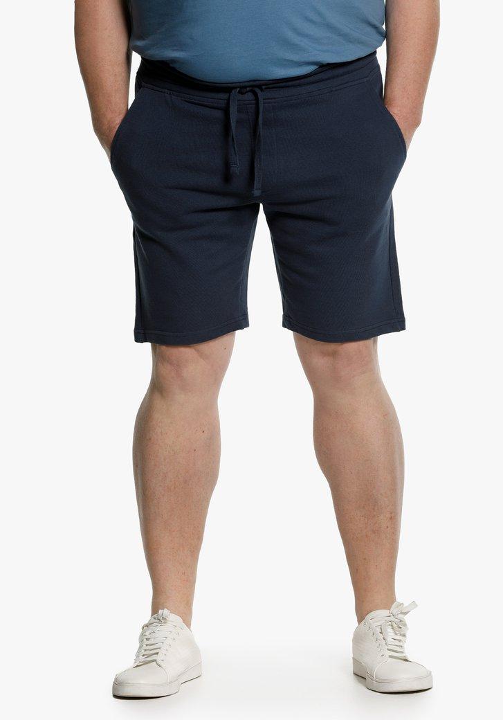Navy short met elastische taille