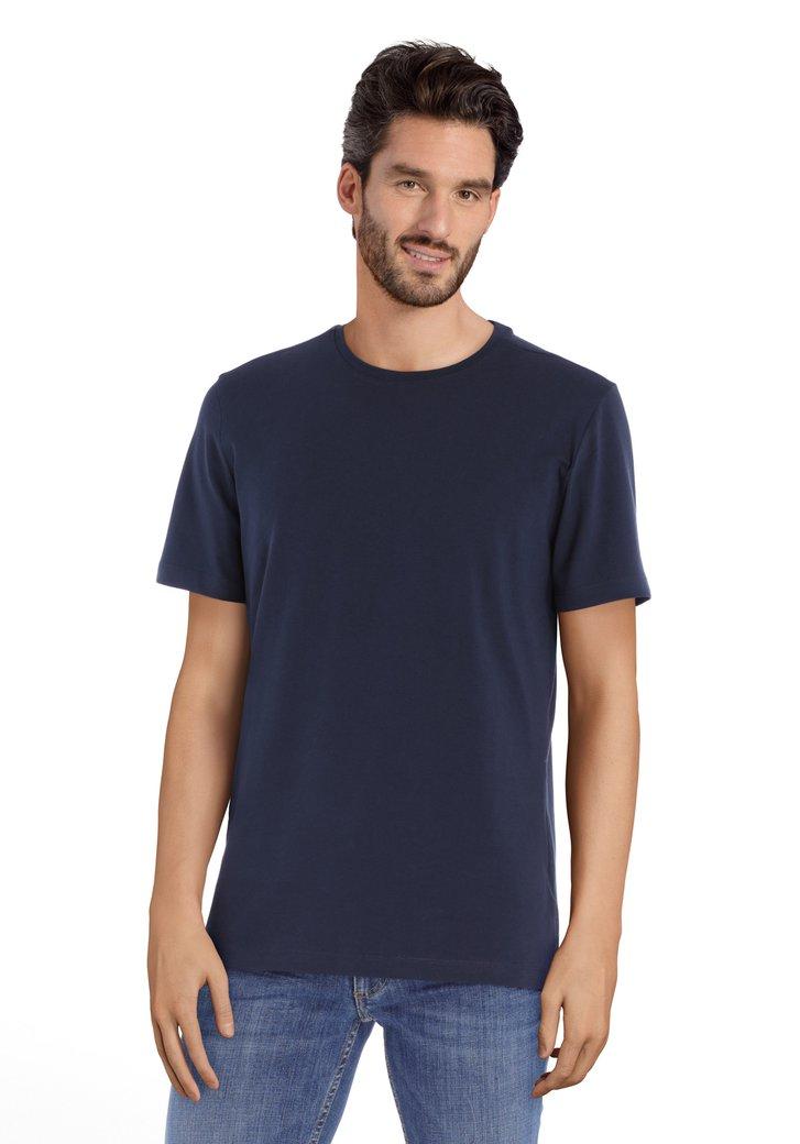 Navy soepel T-shirt met ronde hals