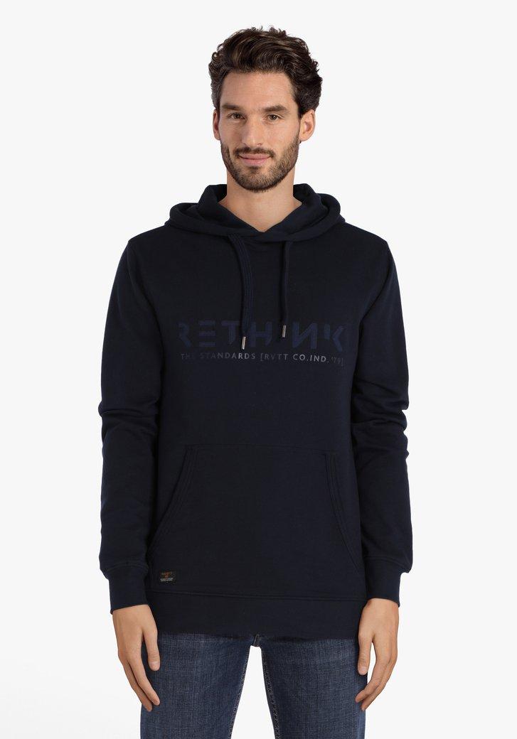 Navy sweater met kap