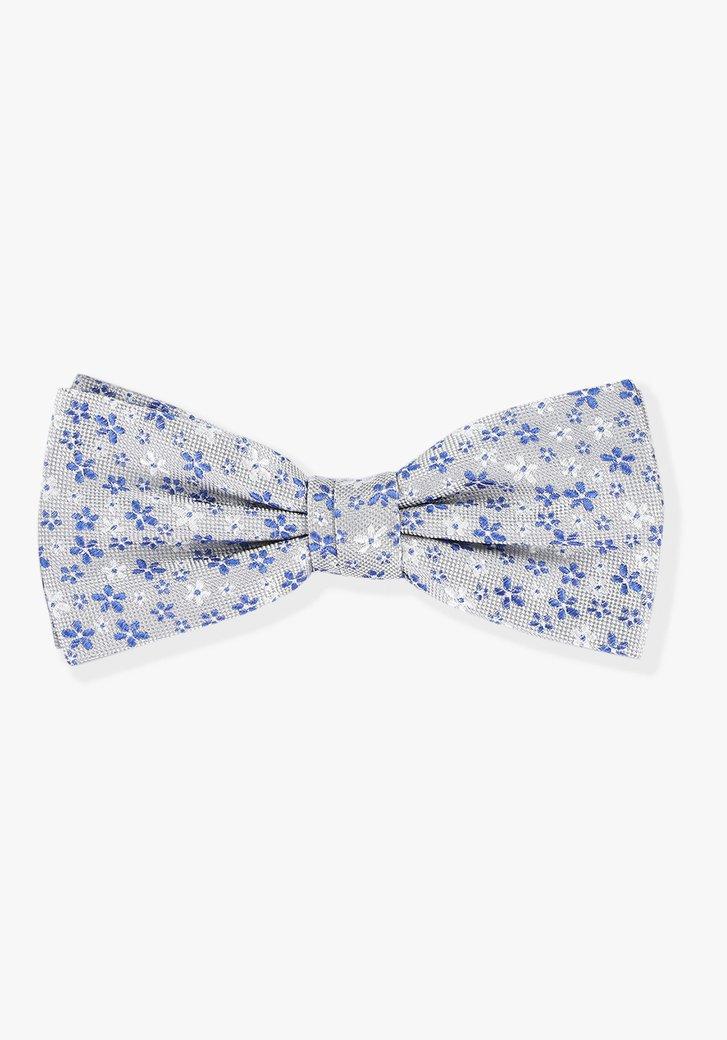 Noeud papillon bleu à fleurs