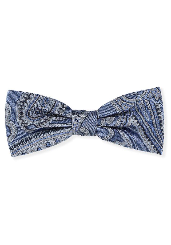Noeud papillon bleu à motif Paisley
