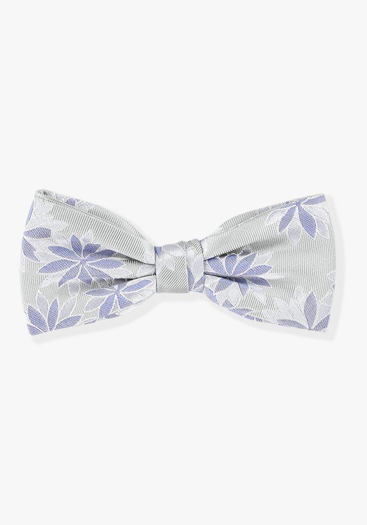 Noeud papillon gris à fleurs
