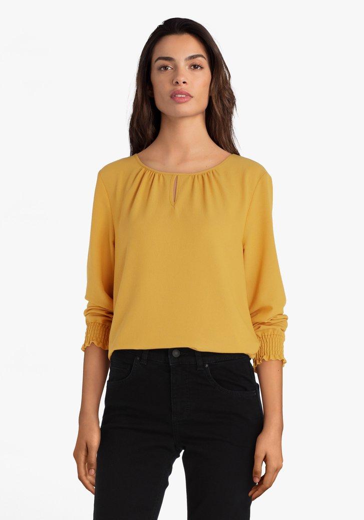 Okerkleurige blouse