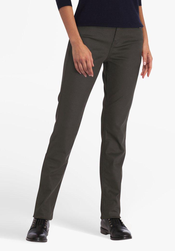 Olijfgroene broek - straight fit
