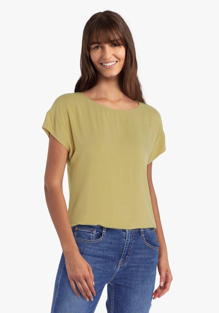 Olijgroene blouse