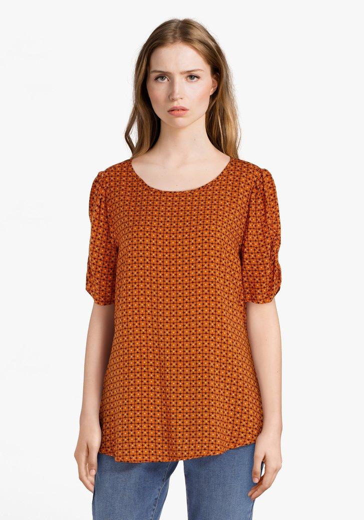 Oranje blouse in viscose