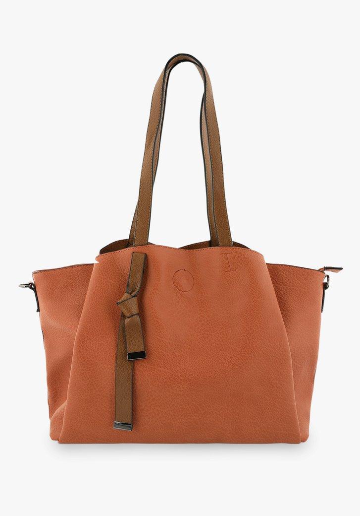 Oranje handtas met schouderriem