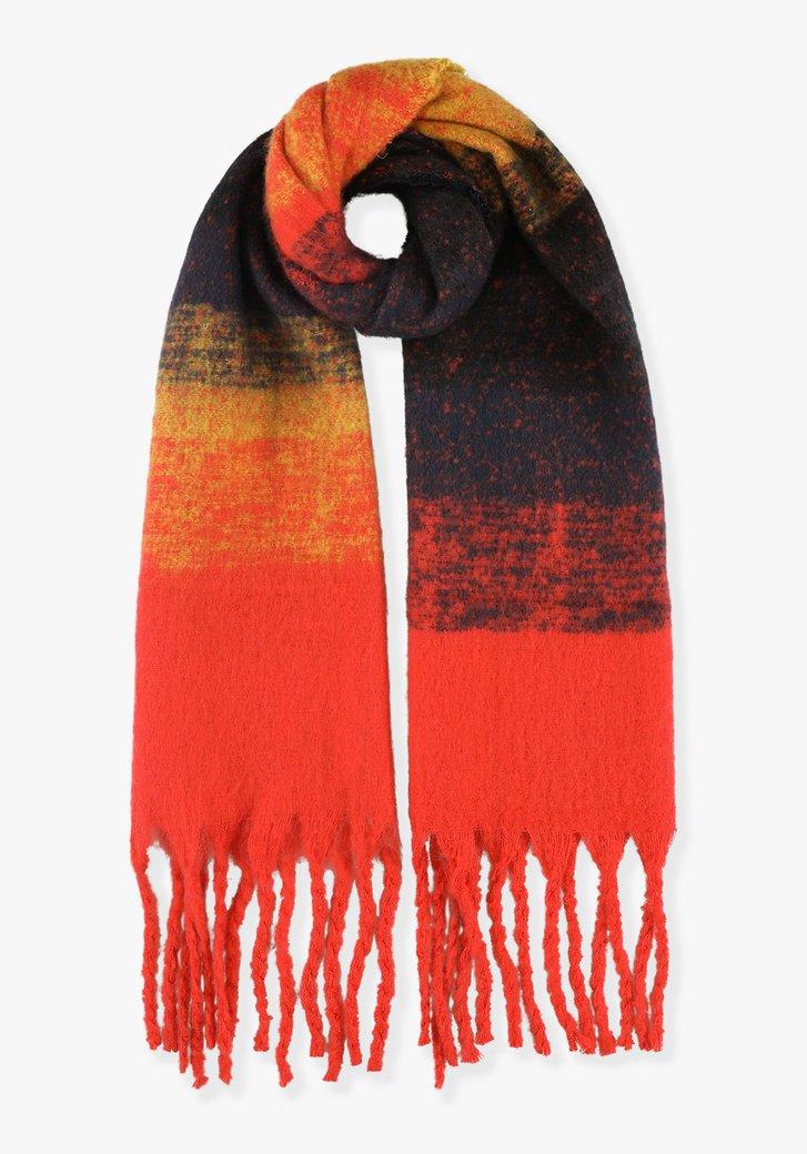 Oranje sjaal met kleurovergang